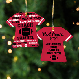 Personalized Best Coach Football - Purple Christmas Ornament