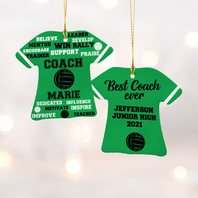 Personalized Best Coach Volleyball - Purple Christmas Ornament