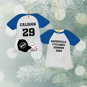Personalized Baseball Jersey - Purple Christmas Ornament