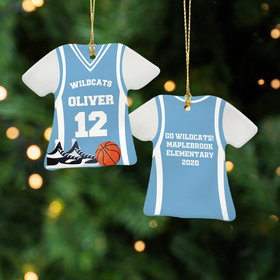 Personalized Basketball Jersey - Purple Christmas Ornament
