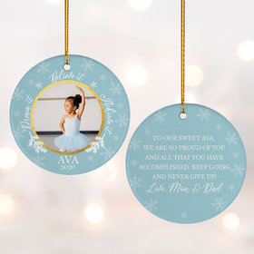Personalized Dance Ballet Dream It - Red Christmas Ornament