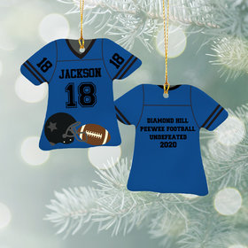 Personalized Football Jersey - Purple Christmas Ornament