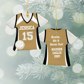 Personalized Volleyball Jersey - Purple Christmas Ornament