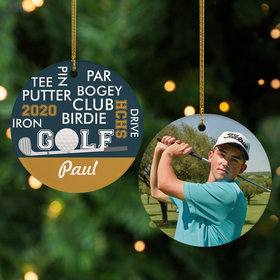 Personalized Golf World Cloud Christmas Ornament
