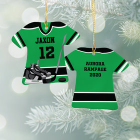 Personalized Hockey Jersey - Purple Christmas Ornament