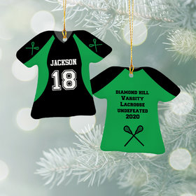 Personalized Lacross Jersey - Purple Christmas Ornament