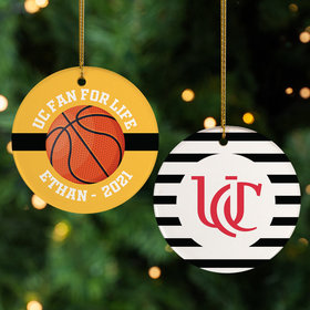 Personalized College Basketball Christmas Ornament