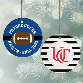 Personalized College Football Christmas Ornament