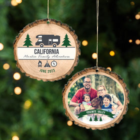 Personalized Mountain Vacation Christmas Ornament
