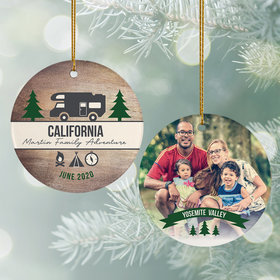 Personalized Camper Travel Photo Christmas Ornament
