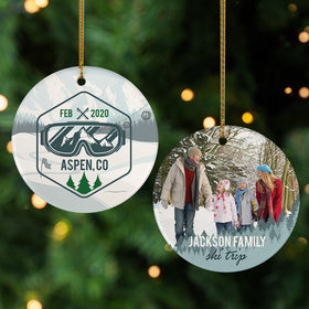 Personalized Aspen Travel Photo Christmas Ornament