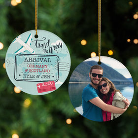 Personalized Travel Photo Christmas Ornament