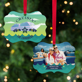 Personalized Cruising Christmas Ornament