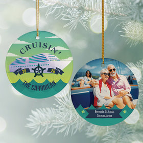 Personalized Cruise Travel Photo Christmas Ornament