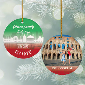 Personalized Rome Travel Photo Christmas Ornament