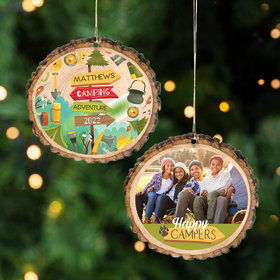 Personalized Happy Campers Christmas Ornament