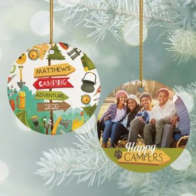Personalized Happy Campers Photo Ornament