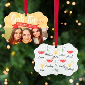 Personalized Girl's Trip Christmas Ornament