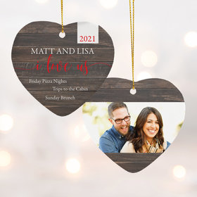 Personalized I Love Us Christmas Ornament