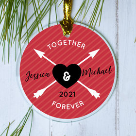 Personalized Together Forever Christmas Ornament