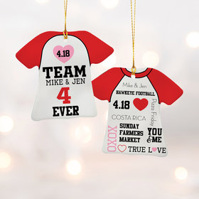 Personalized Team Us 4 Ever Shirt Christmas Ornament