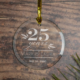 Peronalized Classic Anniversary Christmas Ornament