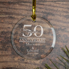 Personalized 50 Year Anniversary Classic Christmas Ornament