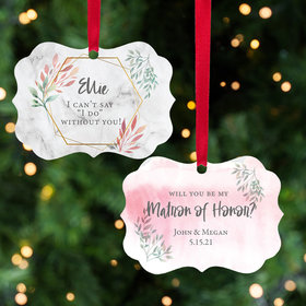Persaonalized Matron of Honor Christmas Ornament