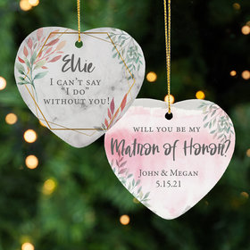 Personalized Matron of Honor Christmas Ornament
