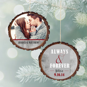 Personalized Always and Forever Christmas Ornament