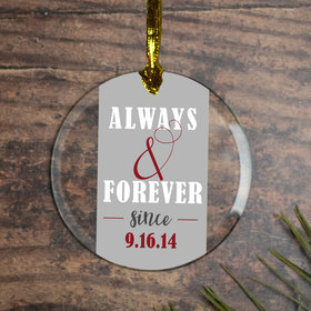 Personalized Always & Forever Wedding Christmas Ornament