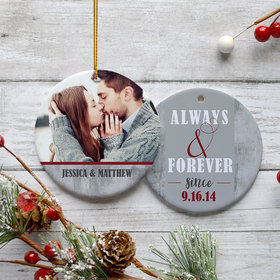 Personalized 'Always & Forever' Christmas Ornament