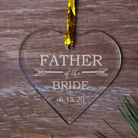 Personalized Father of the Bride Christmas Ornament