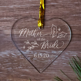 Personalized Mother of the Bride Christmas Ornament