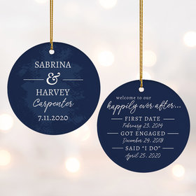 Personalized Happily Ever After Wedding Christmas Ornament