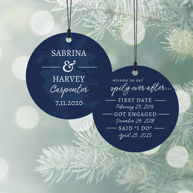 Personalized Happily Ever After Christmas Ornament