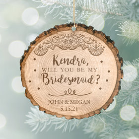 Personalized Will You be my Bridesmaid Christmas Ornament
