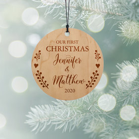 Personalized Couples 1st Christmas Ornament