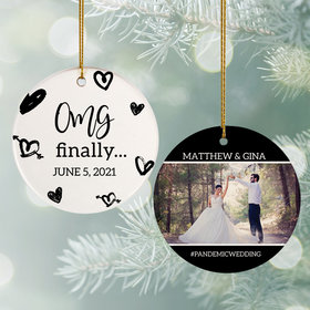 Personalized OMG Finally Christmas Ornament