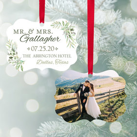 Personalized Wedding Photo Christmas Ornament