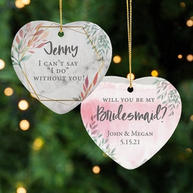 Personalized Bridesmaid Christmas Ornament
