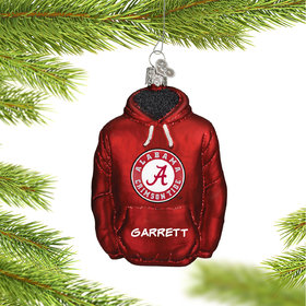 Personalized University of Alabama Hoodie Sweatshirt Christmas Ornament
