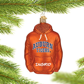 Personalized Auburn University Hoodie Sweatshirt Christmas Ornament