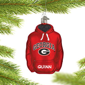 Personalized University of Georgia Hoodie Sweatshirt Christmas Ornament