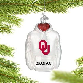 Personalized University of Oklahoma Hoodie Sweatshirt Christmas Ornament