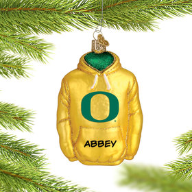 Personalized University of Oregon Hoodie Sweatshirt Christmas Ornament