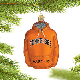 Personalized University of Tennessee Hoodie Sweatshirt Christmas Ornament