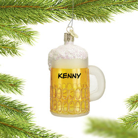 Personalized Mug of Beer Christmas Ornament