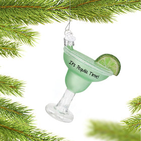 Personalized Original Margarita with Lime Christmas Ornament