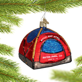 Personalized Dome Tent Christmas Ornament